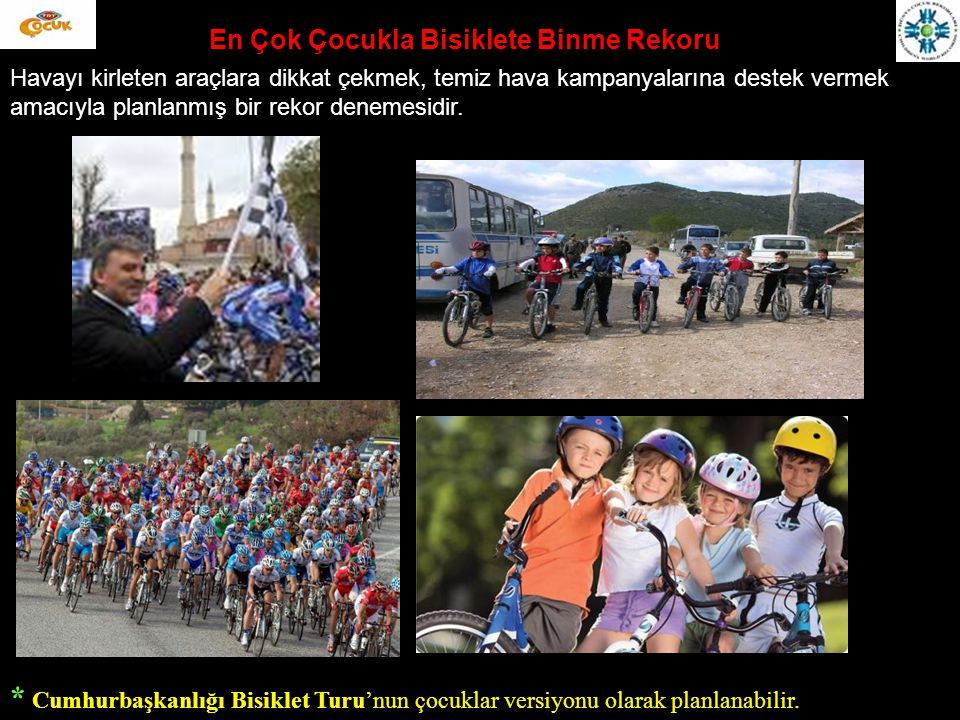En Çok Çocukla Bisiklete Binme Rekoru