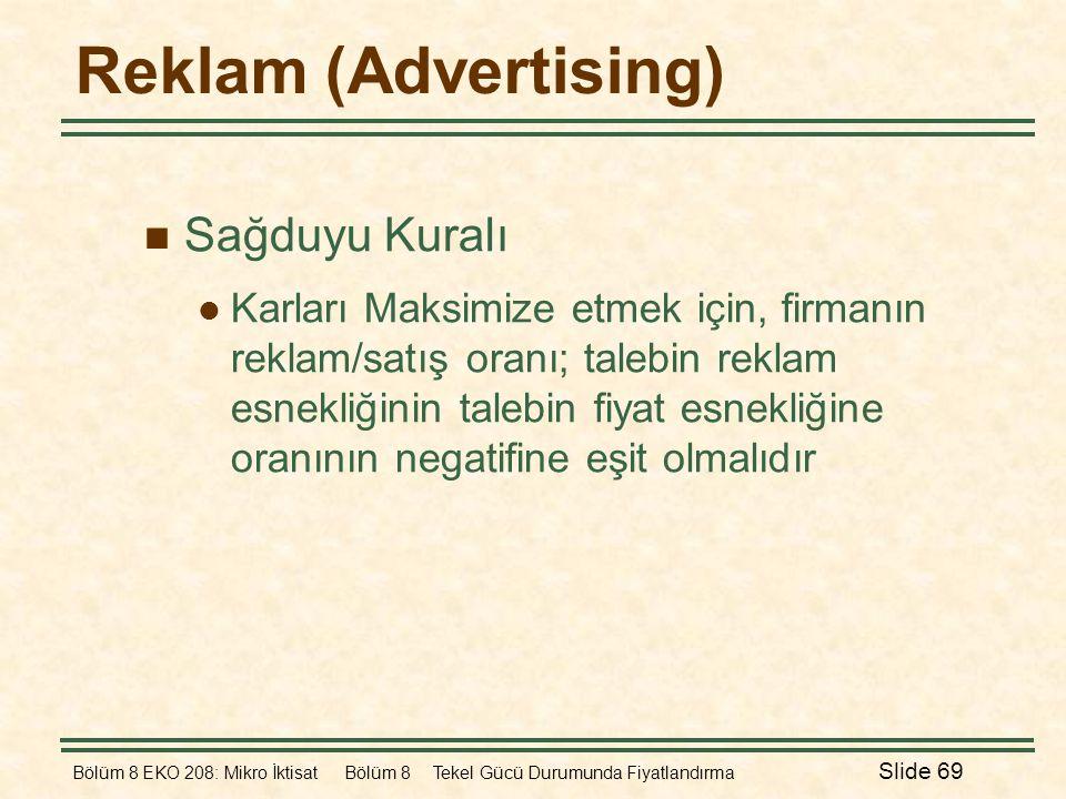 Reklam (Advertising) Sağduyu Kuralı