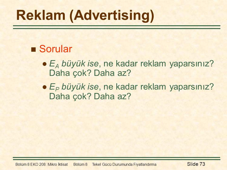 Reklam (Advertising) Sorular