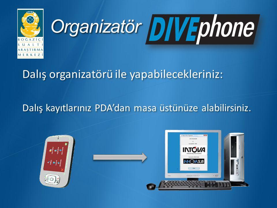 Organizatör Dalış organizatörü ile yapabilecekleriniz: