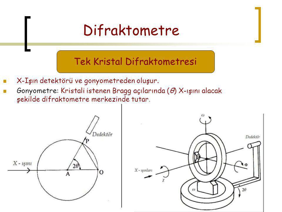 Tek Kristal Difraktometresi