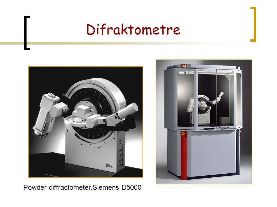Difraktometre Powder diffractometer.Siemens D5000
