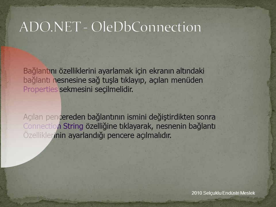 ADO.NET - OleDbConnection