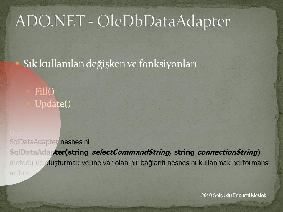 ADO.NET - OleDbDataAdapter