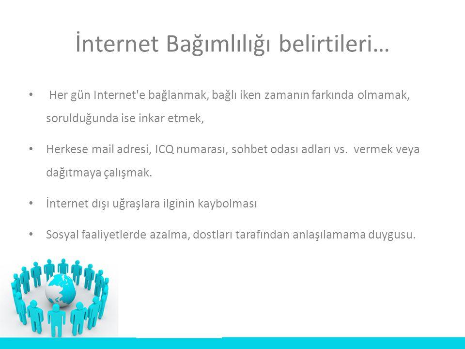 İnternet Bağımlılığı belirtileri…