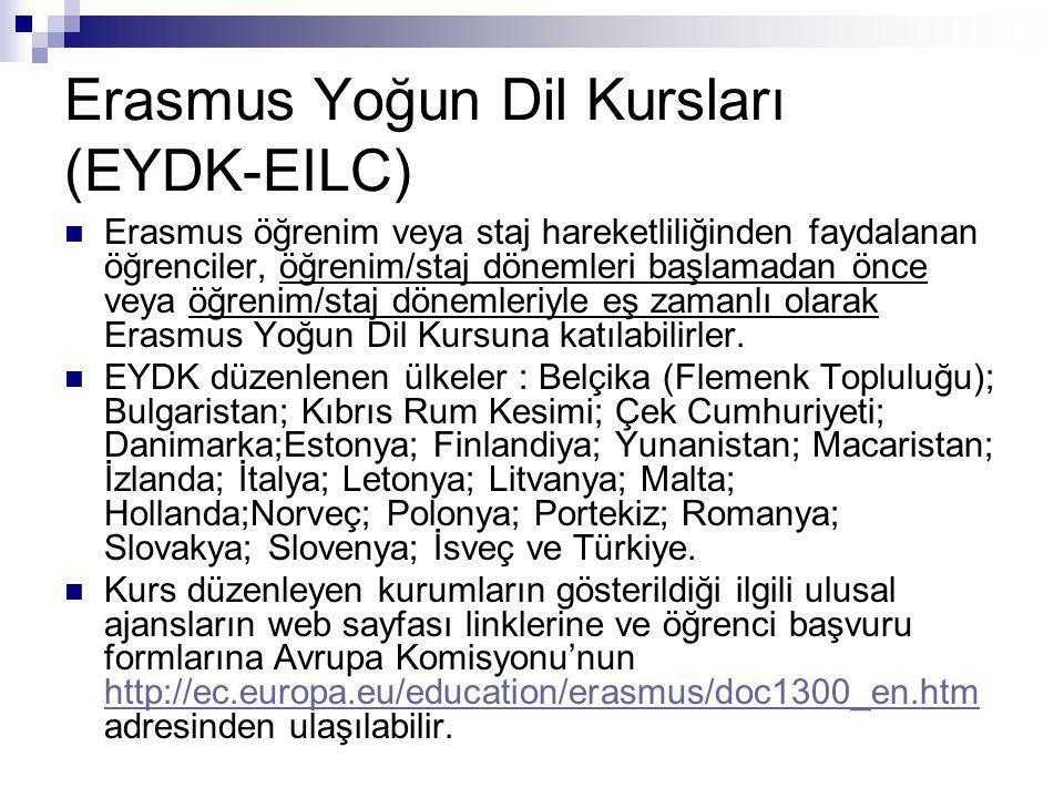 Erasmus Yoğun Dil Kursları (EYDK-EILC)
