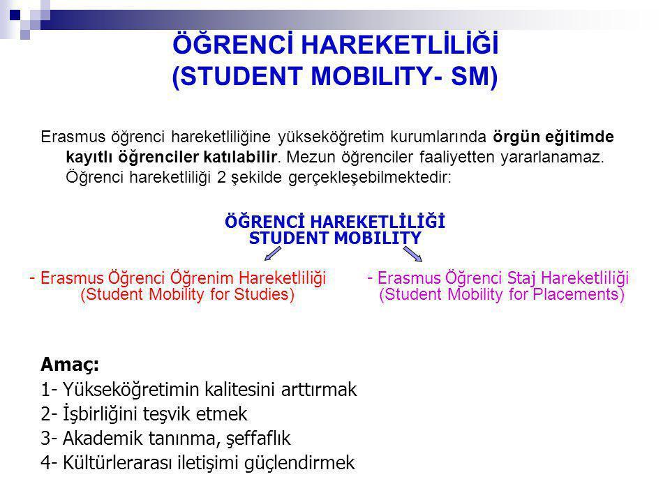 ÖĞRENCİ HAREKETLİLİĞİ (STUDENT MOBILITY- SM)