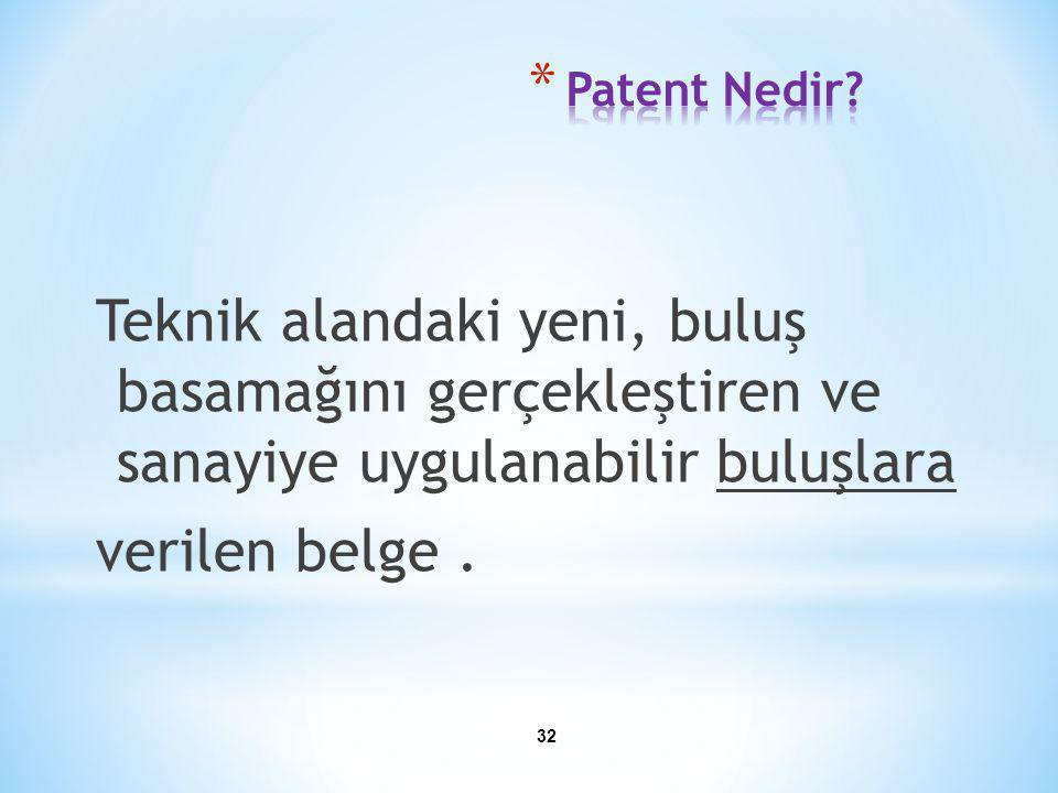 Patent Nedir.
