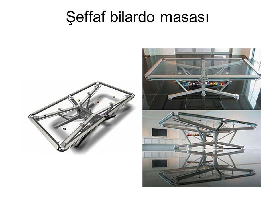 Şeffaf bilardo masası