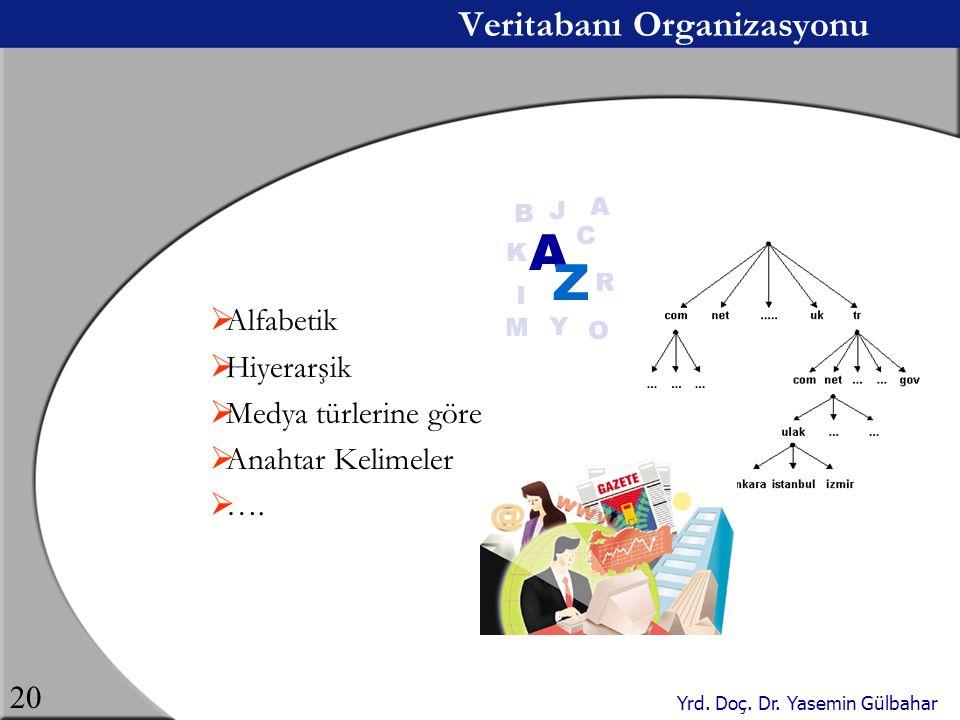 Veritabanı Organizasyonu