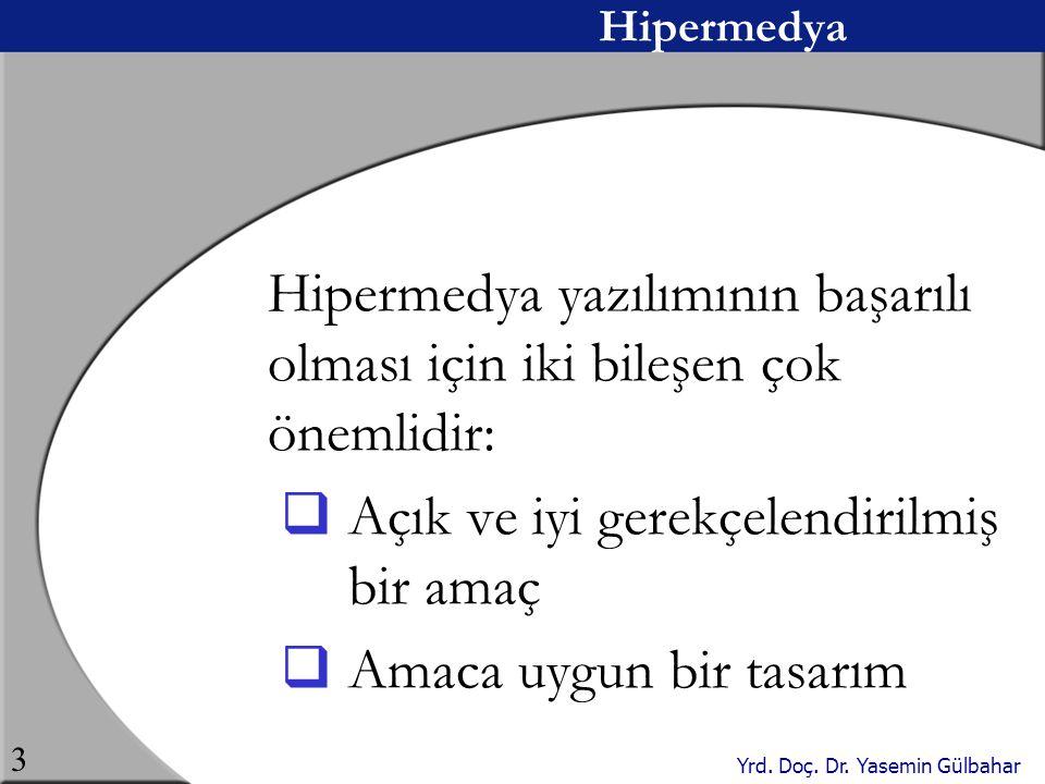 Hipermedya yazılımının başarılı olması için iki bileşen çok önemlidir: