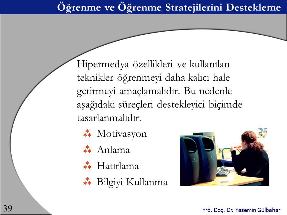Öğrenme ve Öğrenme Stratejilerini Destekleme
