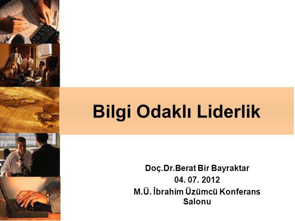 Doç.Dr.Berat Bir Bayraktar M.Ü. İbrahim Üzümcü Konferans Salonu