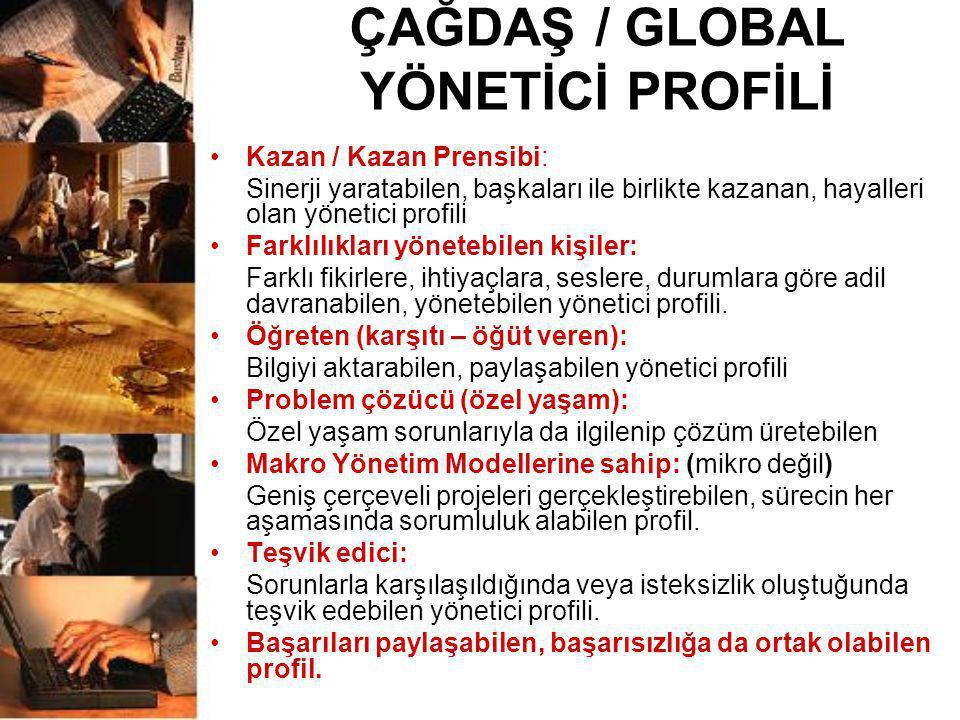 ÇAĞDAŞ / GLOBAL YÖNETİCİ PROFİLİ