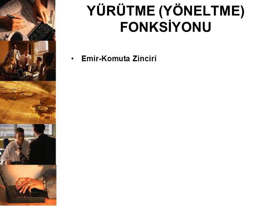 YÜRÜTME (YÖNELTME) FONKSİYONU