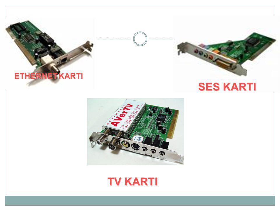 ETHERNET KARTI SES KARTI TV KARTI
