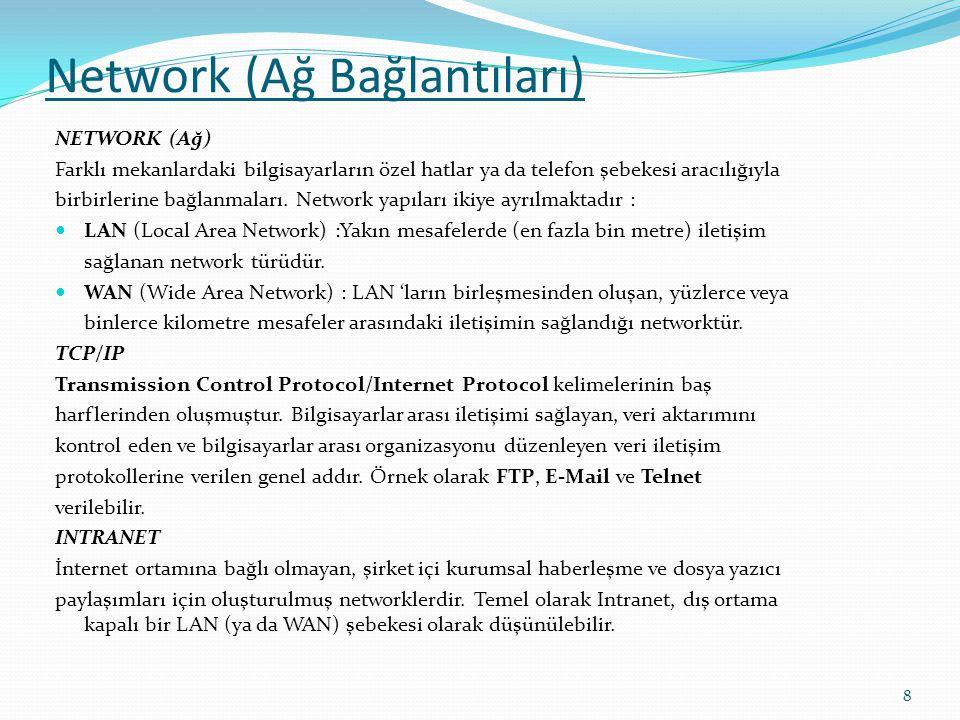 Network (Ağ Bağlantıları)