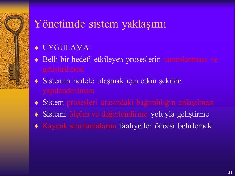 Yönetimde sistem yaklaşımı