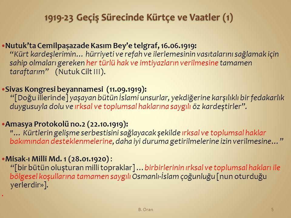 1919-23 Geçiş Sürecinde Kürtçe ve Vaatler (1)