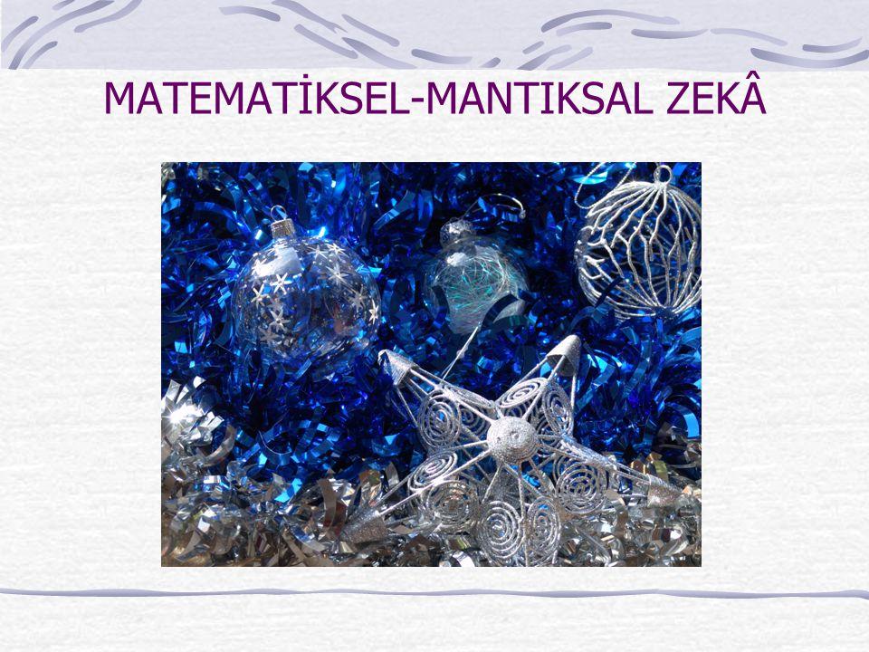 MATEMATİKSEL-MANTIKSAL ZEKÂ
