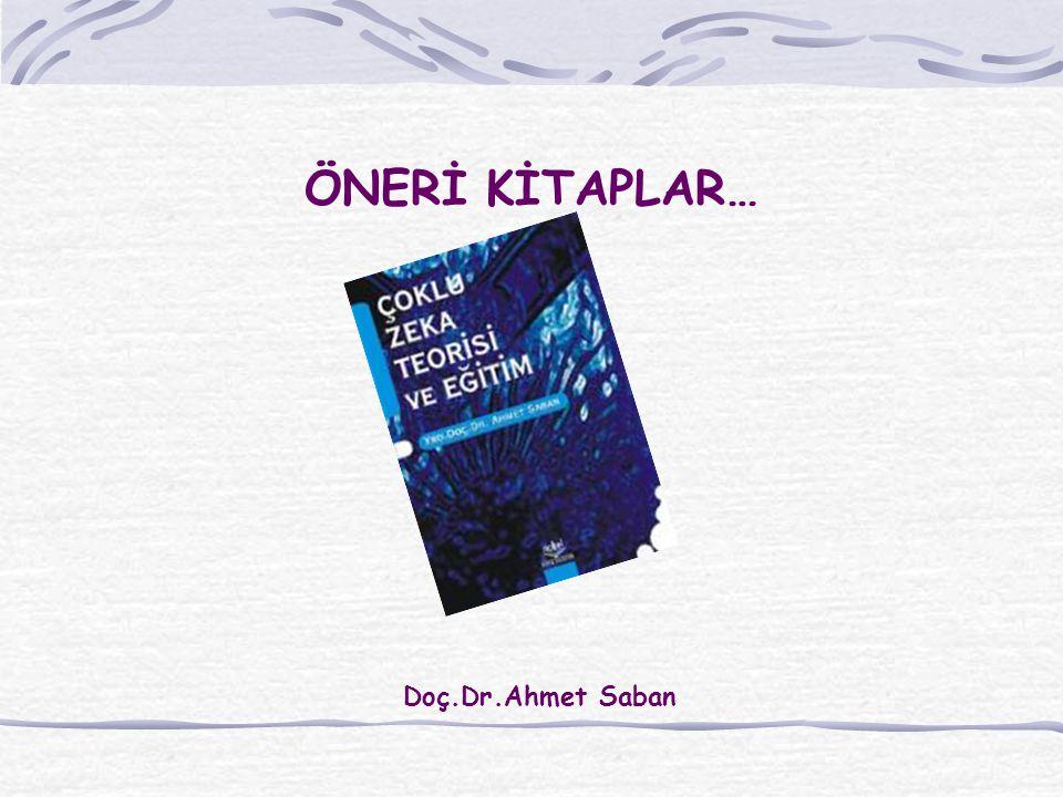 ÖNERİ KİTAPLAR… Doç.Dr.Ahmet Saban