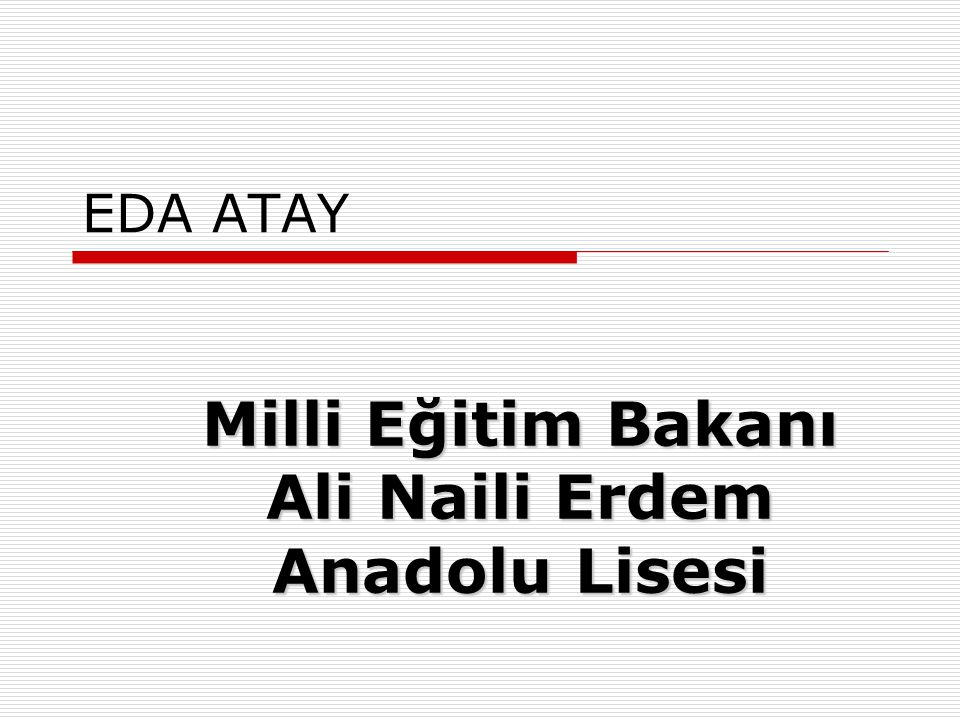 Milli Eğitim Bakanı Ali Naili Erdem Anadolu Lisesi