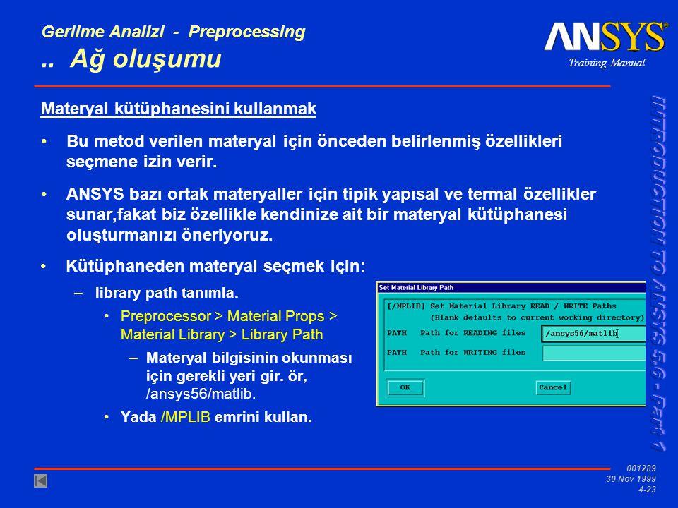 Gerilme Analizi - Preprocessing .. Ağ oluşumu