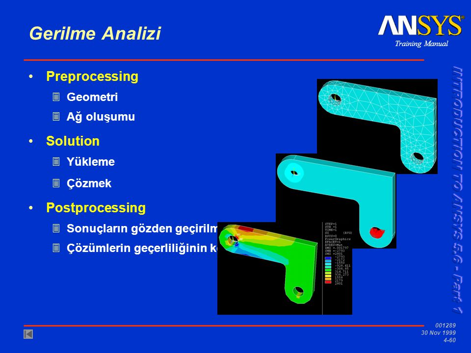 Gerilme Analizi Preprocessing Solution Postprocessing Geometri