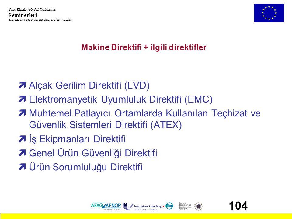 Makine Direktifi + ilgili direktifler