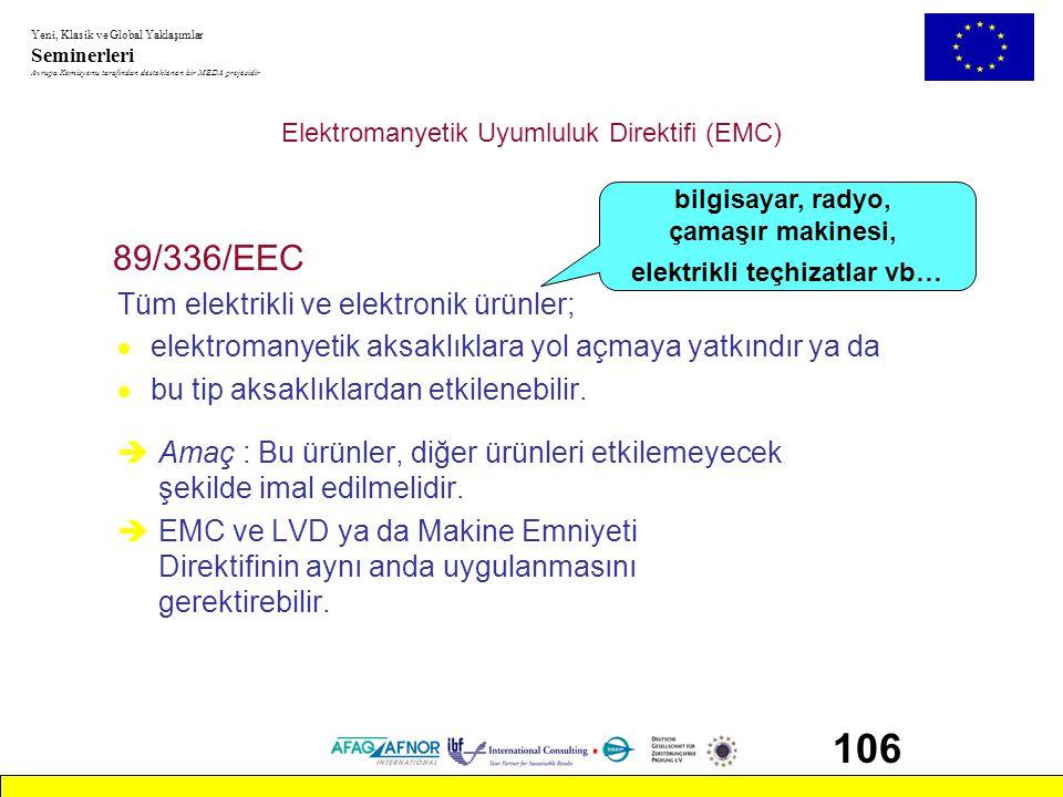 Elektromanyetik Uyumluluk Direktifi (EMC)