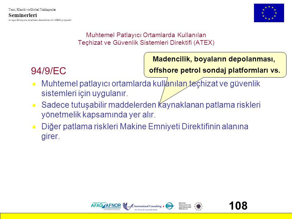Muhtemel Patlayıcı Ortamlarda Kullanılan Teçhizat ve Güvenlik Sistemleri Direktifi (ATEX)