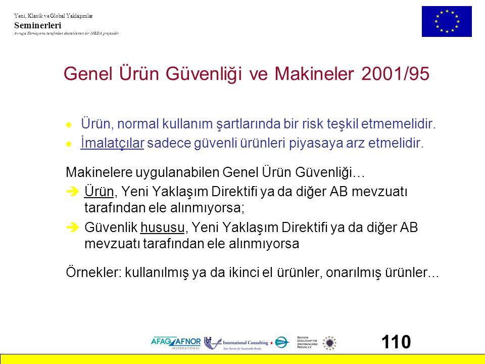 Genel Ürün Güvenliği ve Makineler 2001/95