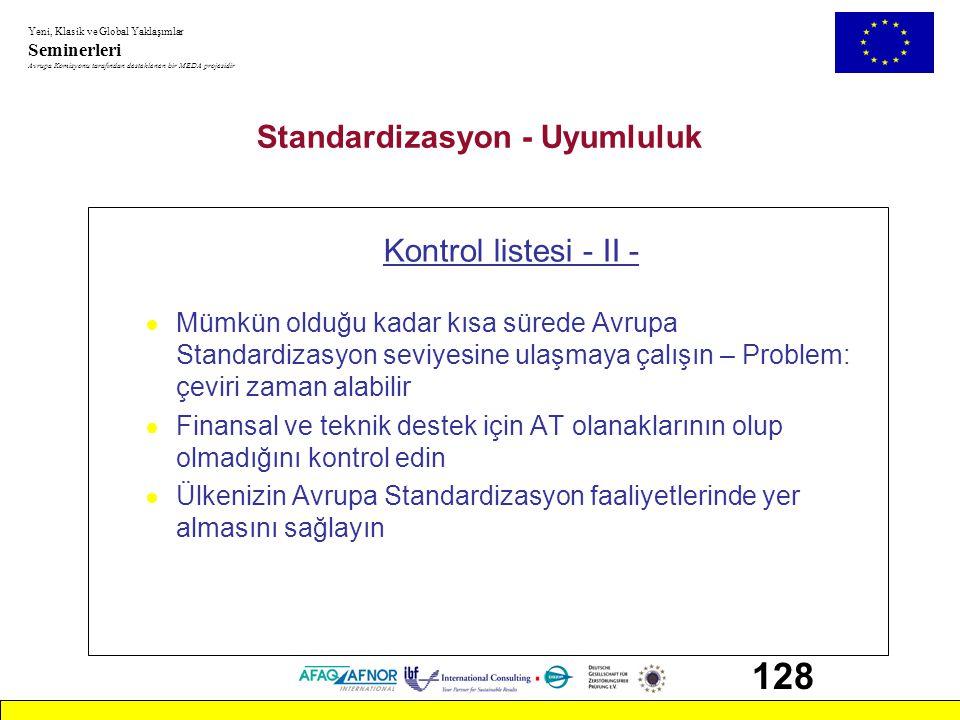 Standardizasyon - Uyumluluk