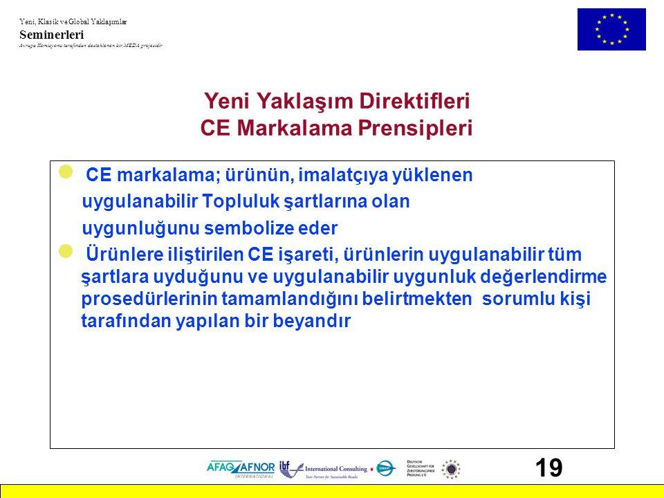 Yeni Yaklaşım Direktifleri CE Markalama Prensipleri