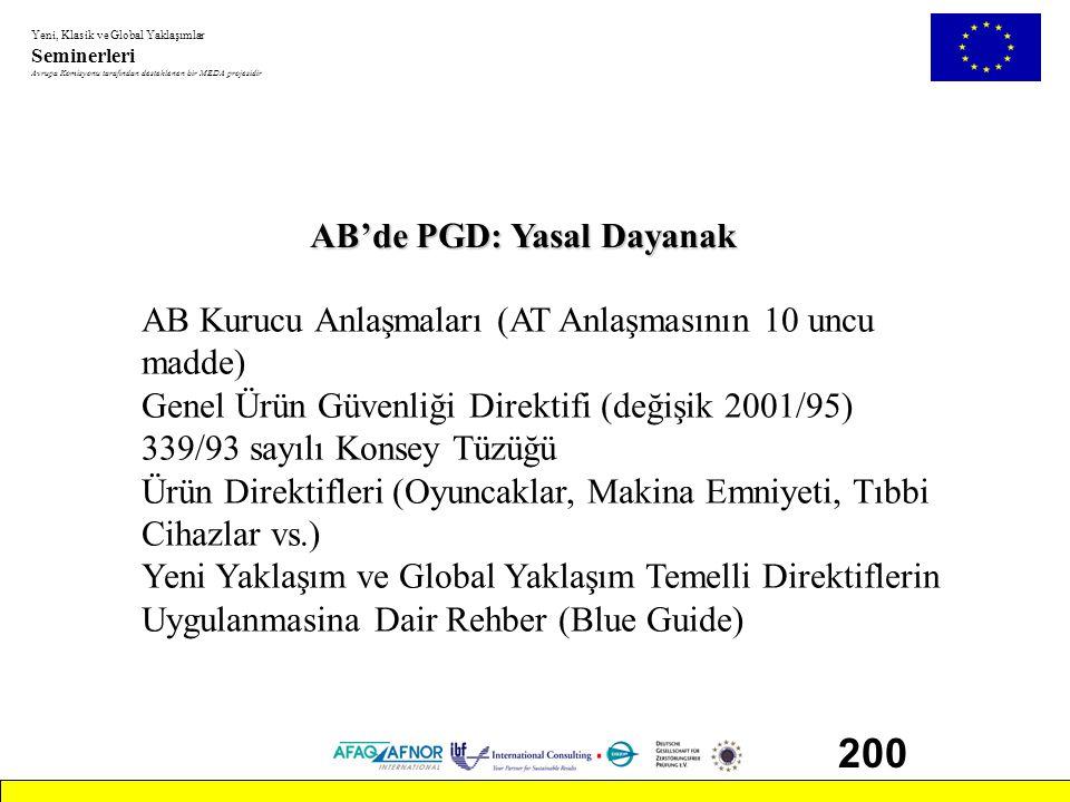 200 AB'de PGD: Yasal Dayanak