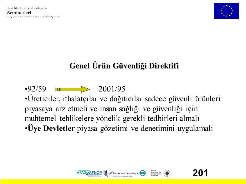 201 Genel Ürün Güvenliği Direktifi 92/59 2001/95