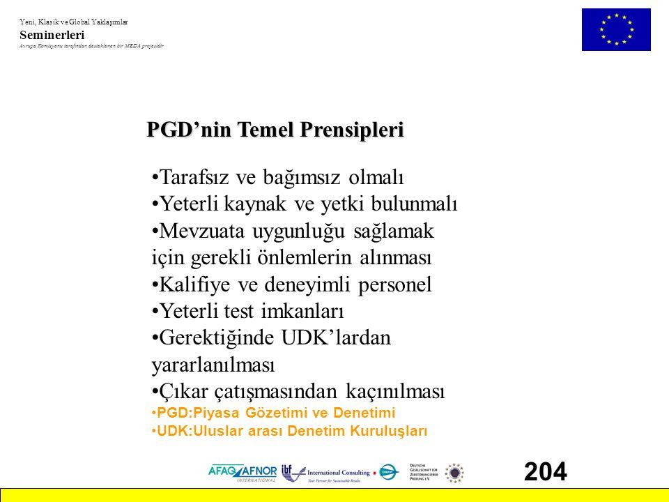 204 PGD'nin Temel Prensipleri Tarafsız ve bağımsız olmalı