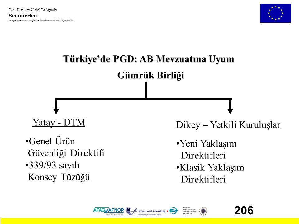 206 Türkiye'de PGD: AB Mevzuatına Uyum Gümrük Birliği Yatay - DTM