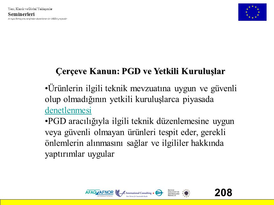 208 Çerçeve Kanun: PGD ve Yetkili Kuruluşlar