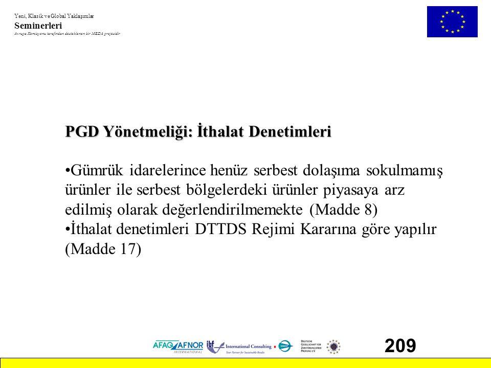 209 PGD Yönetmeliği: İthalat Denetimleri