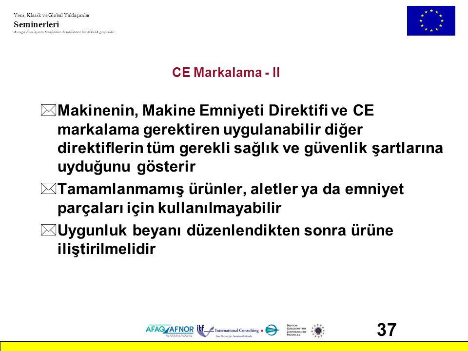 CE Markalama - II
