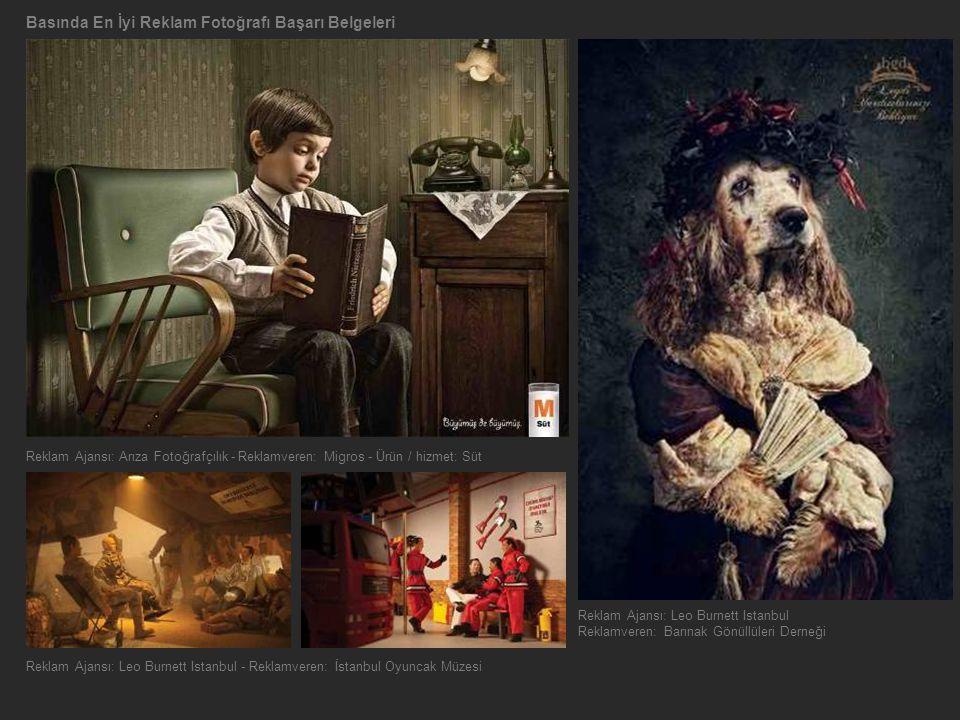 Basında En İyi Reklam Fotoğrafı Başarı Belgeleri