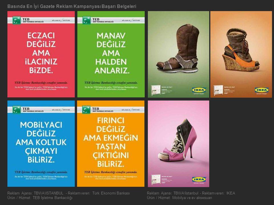 Basında En İyi Gazete Reklam Kampanyası Başarı Belgeleri