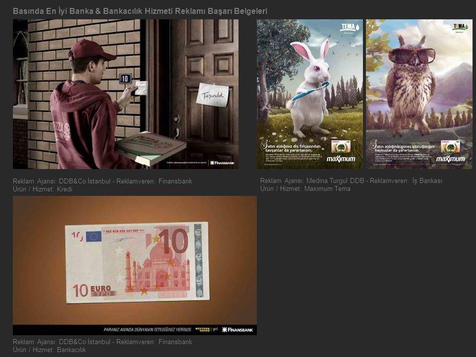 Basında En İyi Banka & Bankacılık Hizmeti Reklamı Başarı Belgeleri