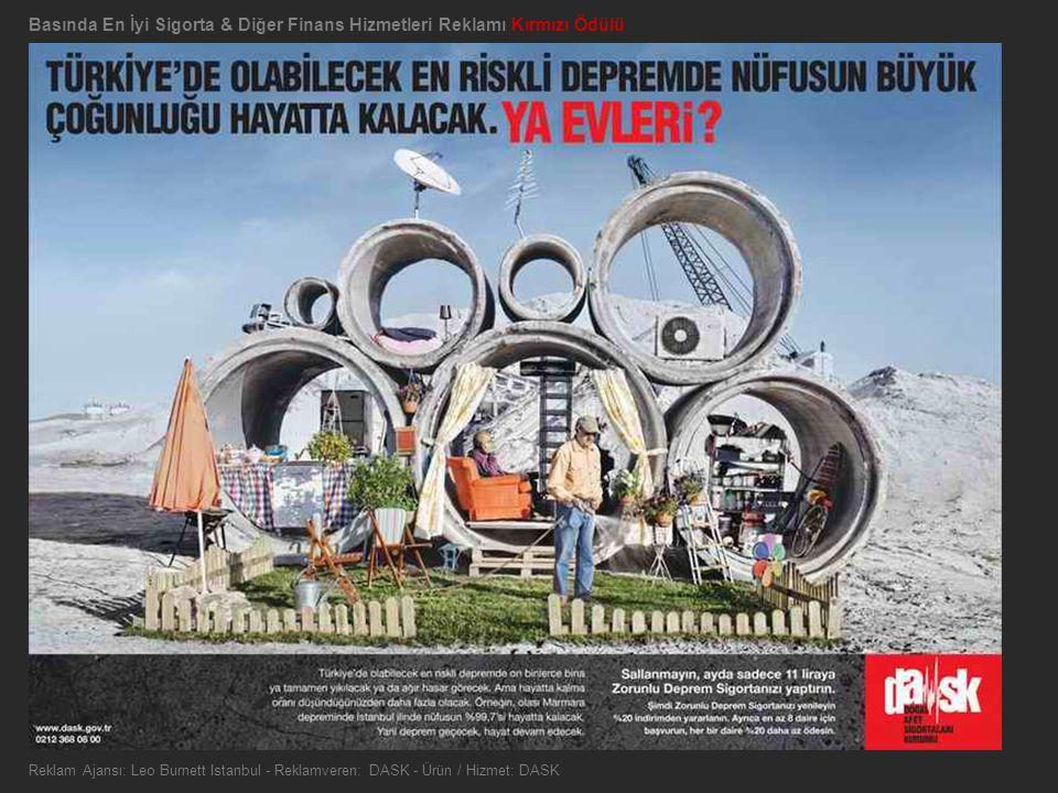 Basında En İyi Sigorta & Diğer Finans Hizmetleri Reklamı Kırmızı Ödülü