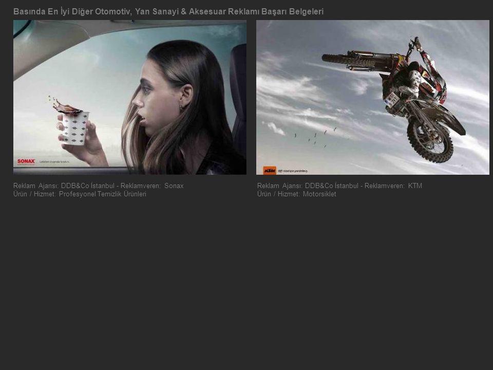 Basında En İyi Diğer Otomotiv, Yan Sanayi & Aksesuar Reklamı Başarı Belgeleri