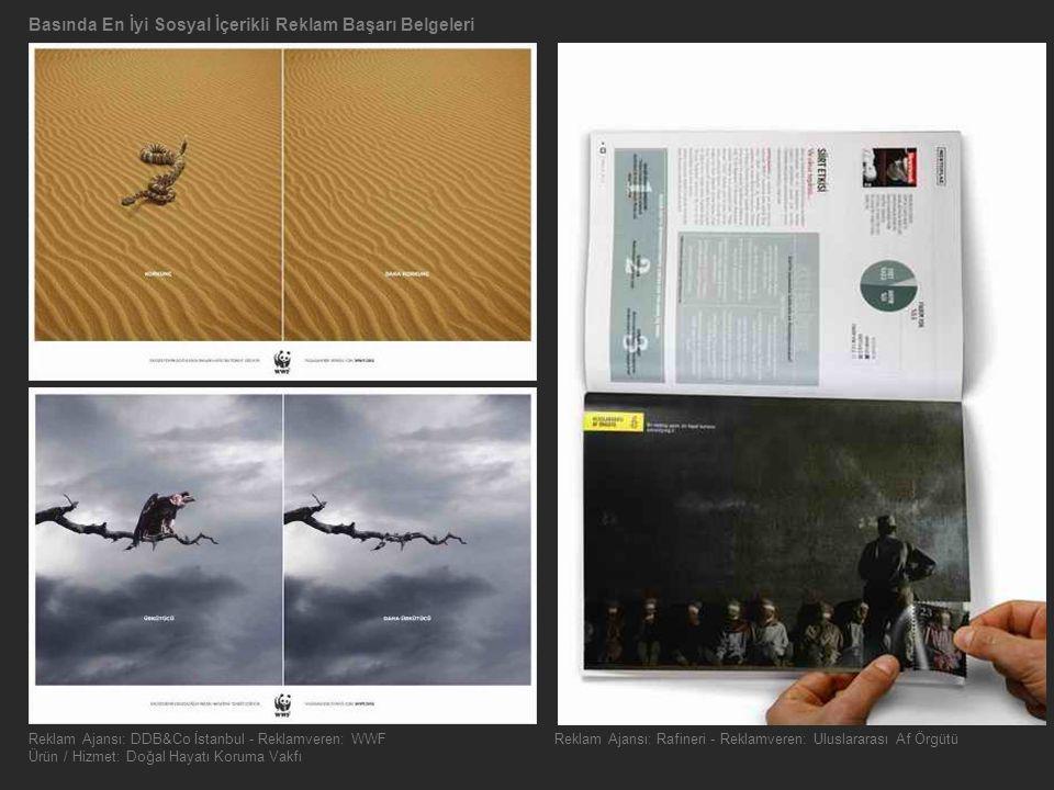 Basında En İyi Sosyal İçerikli Reklam Başarı Belgeleri