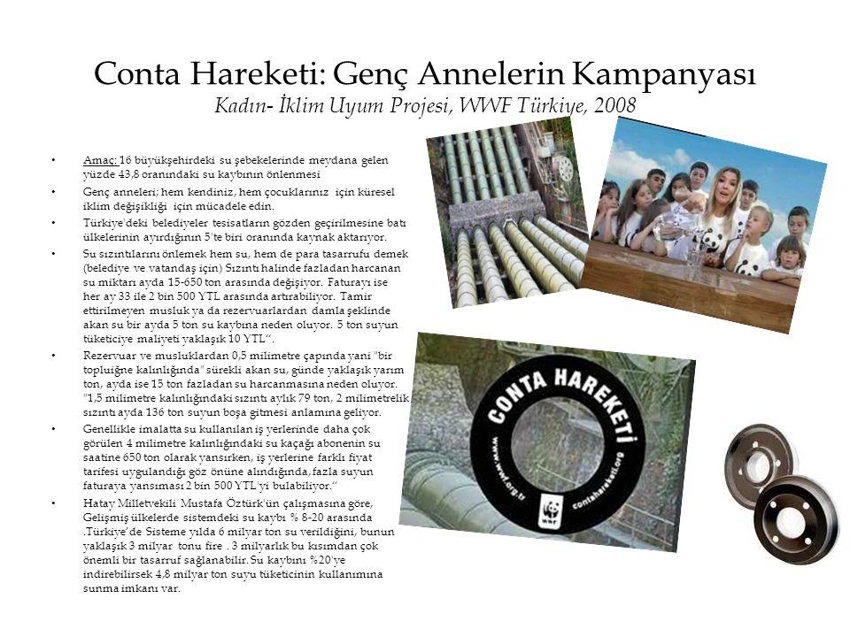 Conta Hareketi: Genç Annelerin Kampanyası Kadın- İklim Uyum Projesi, WWF Türkiye, 2008