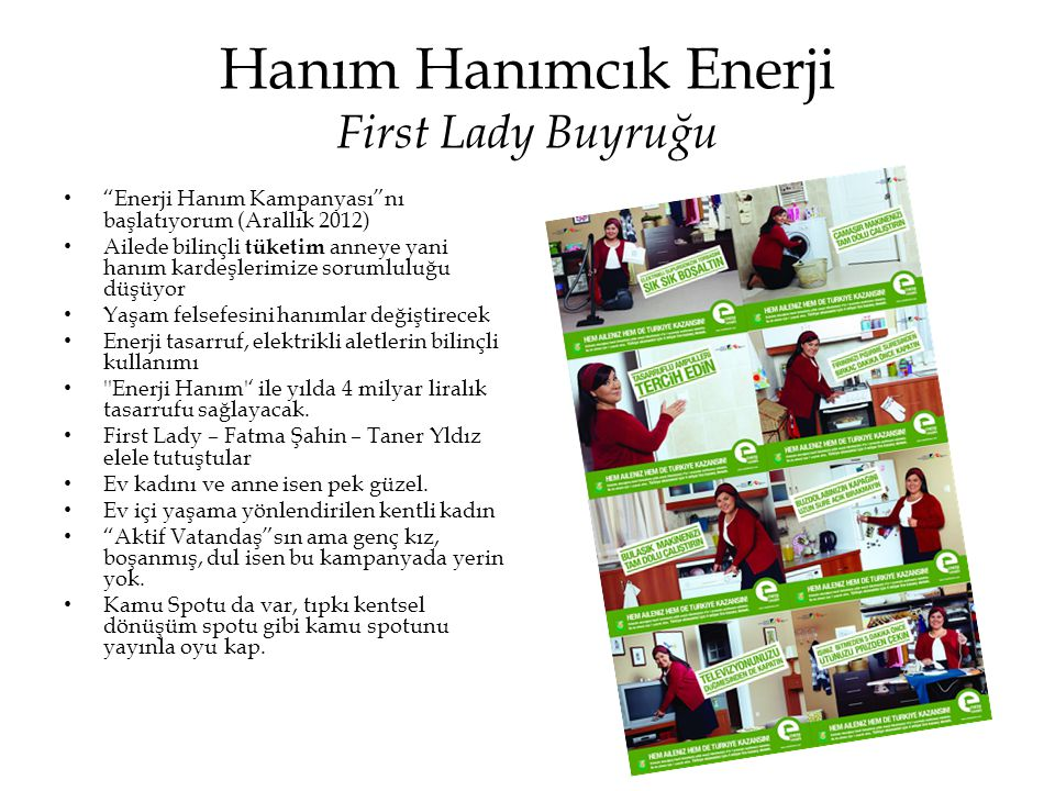 Hanım Hanımcık Enerji First Lady Buyruğu