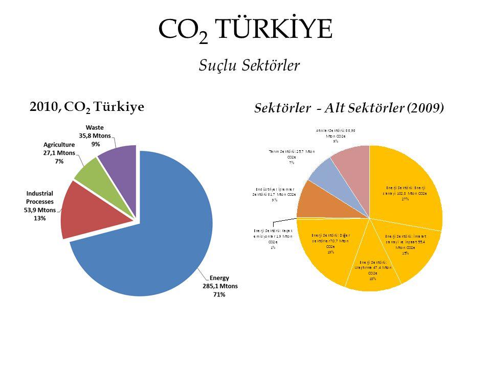 CO2 TÜRKİYE Suçlu Sektörler